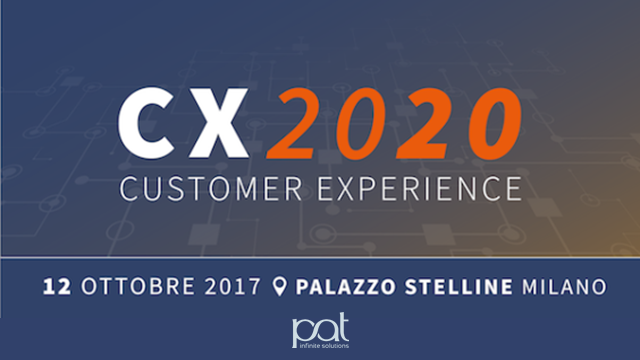 "Pat Full Sponsor all'evento ""Customer Experience 2020"""