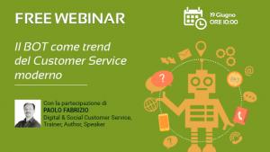 Webinar – Il BOT come trend del Customer Service moderno